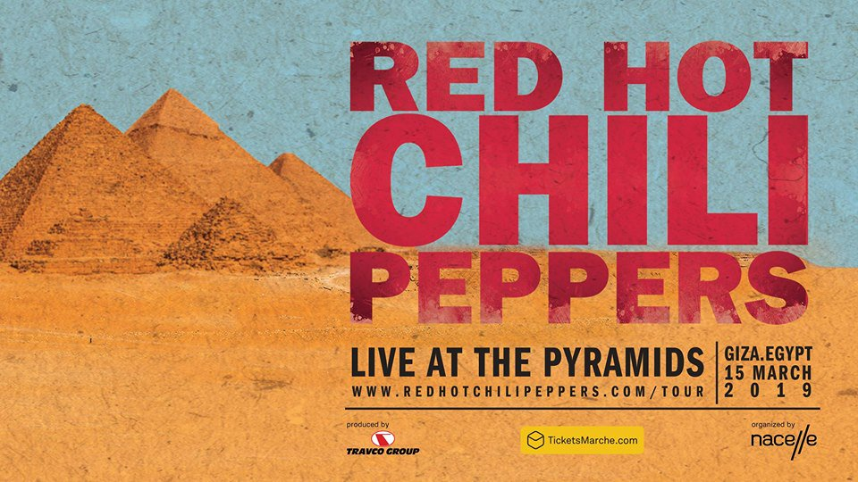 Anúncio do show do Red Hot Chili Peppers no Egito (Divulgação)