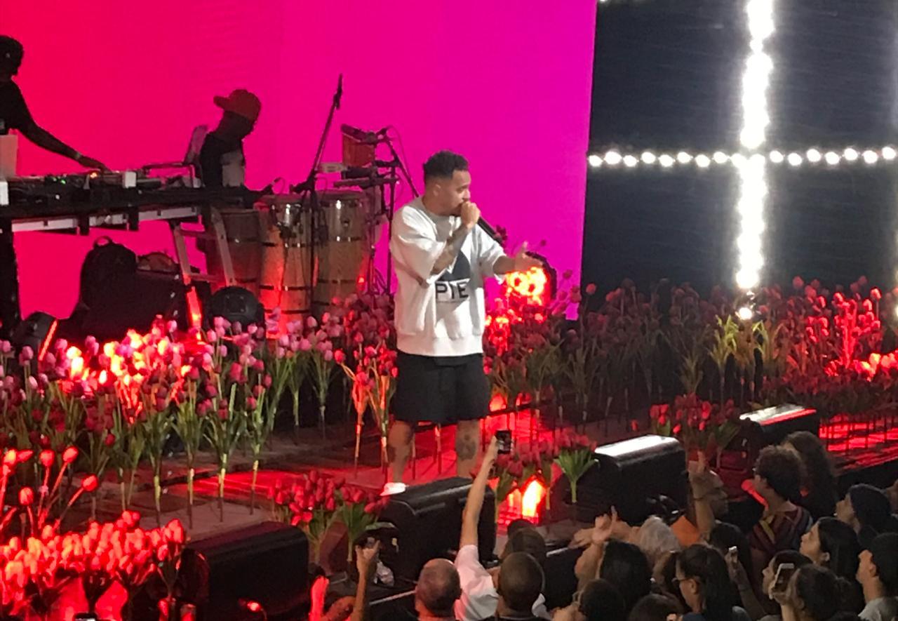Marcelo D2 em show na Audio, em SP (Amon Borges/Folhapress)
