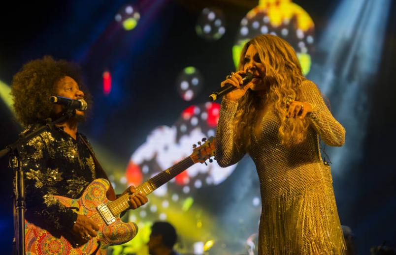 Chico César (esq.) e Elba Ramalho no festival S.E.N.S.A.C.I.O.N.A.L! 2020 (Divulgação)